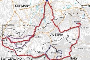 Alps Tour Map