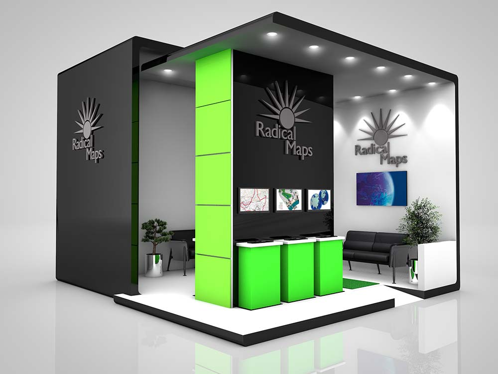 Exhibition Stand Freebies : Radical maps exhibition stand design « graphic