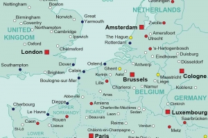 Europe Rail Terminus Map
