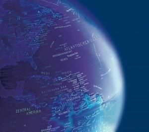 German Globe Map