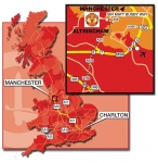 Manchester United Map
