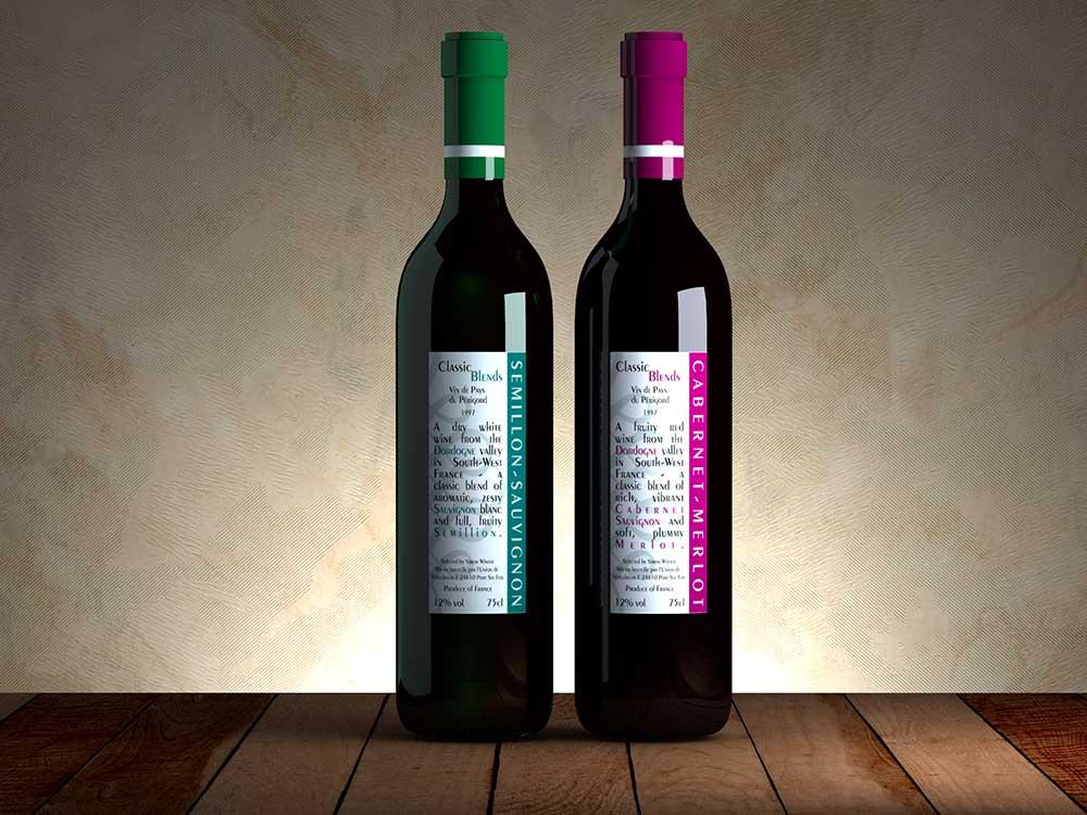 Wine Labels Graphic Design Photorealistic Cgi Information