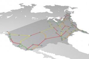 USA Rail Transport Data Map